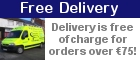 Free Delivery! Delivery free of charge for orders over €75