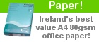 Paper - Ireland's best value A4 80gsm office paper