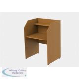 Single Sided Study Carrel Desk  H1200 x W886 x D700mm