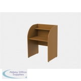 Single Sided Study Carrel Desk With Rounded Corners H1200 x W886 x D700mm
