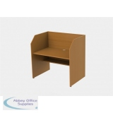 Single Sided Study Carrel Starter inc Cable Management and Desk Height Adjustability H1200 x W1236 x D850mm