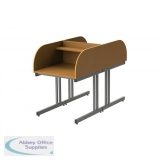 Double Sided Cantilever Study Carrel Desk With Rounded Corners H1100 x W800 x D1600mm
