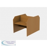 Double Sided Study Carrel Starter inc Cable Management and Desk Height Adjustability H1200 x W1236 x D1676mm