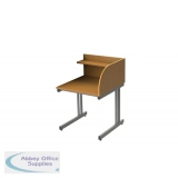 Single Sided Cantilever Study Carrel Desk - Add On - H1100 x W800 x D800mm