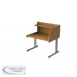 Singe Sided Cantilever Study Carrel Desk - Add On -H1200 x W1200 x D800mm