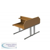 Double Sided Cantilever Study Carrel Desk - Add On - H1200 x W1200 x D1600mm