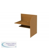 Single Sided Study Carrel Starter inc Cable Management and Desk Height Adjustability - Add On - H1200 x W1236 x D850mm