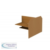 Double Sided Study Carrel Starter inc Cable Management and Desk Height Adjustability - Add On - H1200 x W1236 x D1676mm
