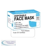 AOS-EN149 - Surgical Disposable Face Masks - Pack of 50