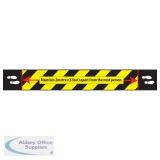 Covid-19 Social Distancing Floor Sign 280mm x 2100mm