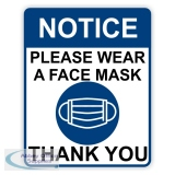 "AOS-CVP110A4 - Covid-19 Poster ""Please Wear A Face Mask"" A4"