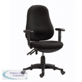 Abbey TY2 Twin Lever Home and Office Operator Chair Black