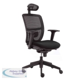 AOFSE-NMC - Abbey NMC High Back Mesh Operator Chair with Adjustable Headrest