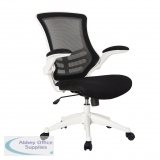 Abbey MESH-OP High Back Mesh Operator Chair in Black with White Shell