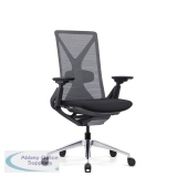 Abbey Fercula 24 Hour High Back Mesh Chair in Black with Sliding Seat