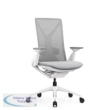 Abbey Fercula 24 Hour High Back Mesh Chair in White with Sliding Seat