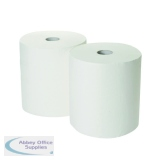 2Work 3-Ply Industrial Roll 170m White (2 Pack) GEM503B