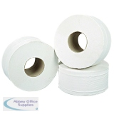 2Work 2-Ply Mini Jumbo Toilet Roll White (12 Pack) J27200VW