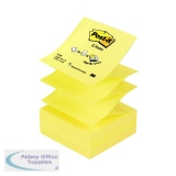 Post-it Z-Notes 76 x 76mm Canary Yellow (12 Pack) R330