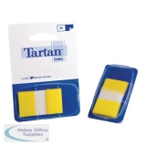 Tartan Dispenser 25x43mm 50 Sheet Yellow Index Tabs 70005019800