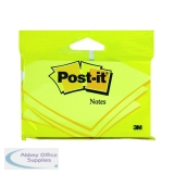 Post-it 76x127mm Canary Yellow Notes (12 Pack) 6830Y