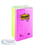 Post-it XXL Lined Notes 102 x 152mm Assorted Neon Colours (6 Pack) 660N