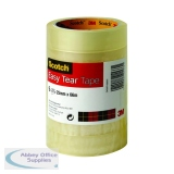 Scotch Clear Easy Tear Tape 24mm x 66m (6 Pack) ET2566T6
