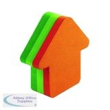 Post-it Notes 70 x 70mm Arrow Neon Orange and Green (12 Pack) 3M34983