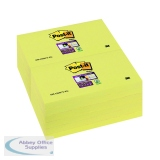 Post-it Super Sticky Note Canary Yellow 76 x 127mm (12 Pack) 655-12SSCY