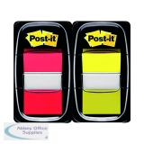 Post-it Index 1 Inch Red and Yellow (Pack 2x50) 680-RY2