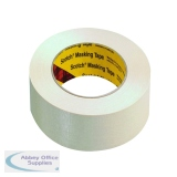 Scotch White 48mmx50m Masking Tape (6 Pack) 201E48I