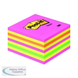 Post-it 76x76mm Neon Note Cube 2028NP