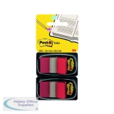 Post-It Red Index Dispenser (Pack 2x50) 680-R2EU