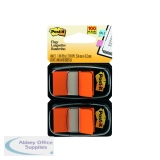 Post-It Orange Index Dispenser (Pack 2x50) 680-O2EU