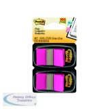 Post-It Pink Index Dispenser (Pack 2x50) 680-BP2EU