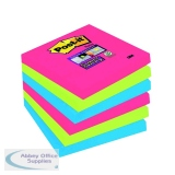 Post-it 76 x 76mm Bora Bora Super Sticky Notes (6 Pack) 654-6SS-JP