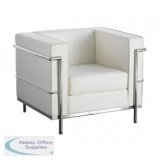 Abbey Cube White 1 Seater