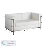 Abbey Cube White 2 Seater
