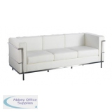 Abbey Cube White 3 Seater