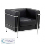 Abbey Cube Black 1 Seater