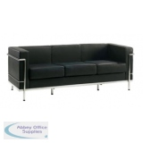 Abbey Cube Black 3 Seater