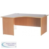 Left Hand Return Contract Desk Beech Panel End