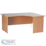 Right Hand Return Contract Desk Beech Panel End