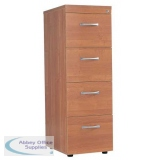 Medici 4 Drawer Wooden Filing Cabinet- With Lock