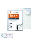 Announce Magnetic Frame A4 Silver (2 Pack) AA01840