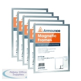 Announce Magnetic Frame A4 Silver (5 Pack) AA01841