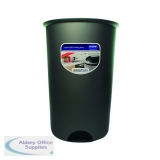 Addis Smart Round Bin Base 50 Litre Metallic 503579