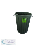 Addis Grey Dustbin Base Round 90 Litre B766Grey