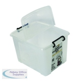 Strata 40L Smart Box with Lid Clear HW674