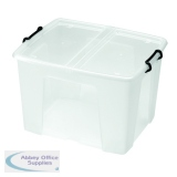 Strata 65L Smart Box with Lid Clear HW686